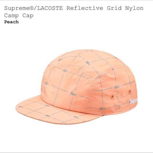21c28a8e Supreme Accessories | X Lacoste Reflective Nylon Camp Cappeach ...
